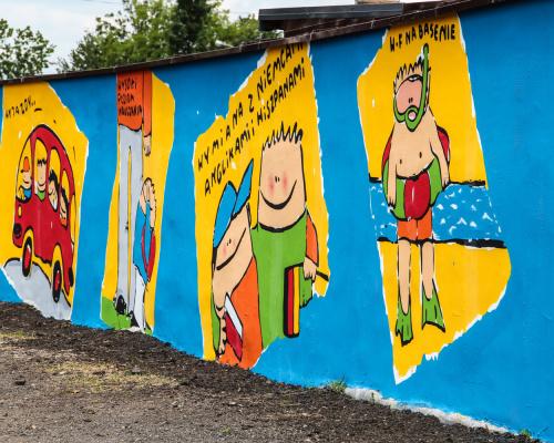 Mural - szkoła katolicka Zabrzu