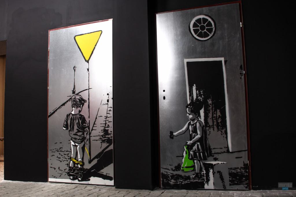 bar podworko_Gliwice_artystyczne _malarstwo_na_ścianie_w_pubie_barze_restauracji_06