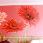 Kwiaty na ścianę