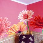 mural - kwiaty