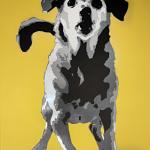 Obraz szablonowy 70x100 cm pies Mika